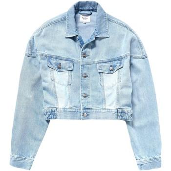 Textil Ženy Riflové bundy Pepe jeans PL401840 Modrý