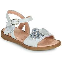 Boty Dívčí Sandály Acebo's 5500SU-BLANCO Bílá / Stříbrná