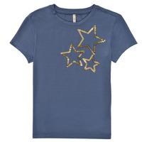 Textil Dívčí Trička s krátkým rukávem Only KONMOULINS STAR Modrá