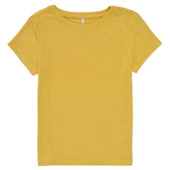 Textil Dívčí Trička s krátkým rukávem Only KONMOULINS Žlutá