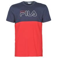 Textil Muži Trička s krátkým rukávem Fila JOPI Červená / Tmavě modrá