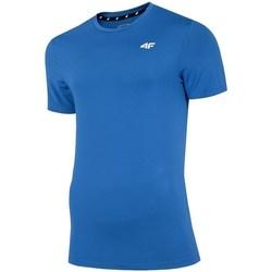 Textil Muži Trička s krátkým rukávem 4F TSMF002 Modré