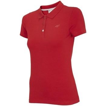 Textil Ženy Polo s krátkými rukávy 4F TSD008 Červené