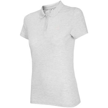 Textil Ženy Polo s krátkými rukávy 4F TSD007 Bílé