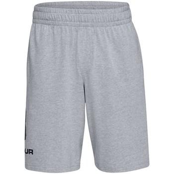 Textil Muži Kraťasy / Bermudy Under Armour Sportstyle Cotton Logo Šedé