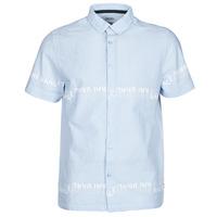 Textil Muži Košile s krátkými rukávy Kaporal STEVE Modrá