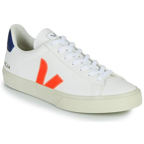 Boty Nízké tenisky Veja CAMPO Bílá / Oranžová / Modrá