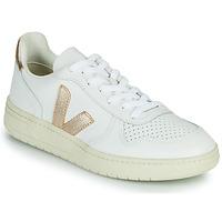 Boty Ženy Nízké tenisky Veja V-10 Bílá / Zlatá