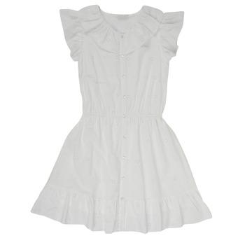 Textil Dívčí Krátké šaty Name it NKFDORITA Bílá