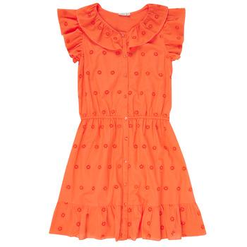 Textil Dívčí Krátké šaty Name it NKFDORITA Korálová