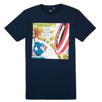 Textil Chlapecké Trička s krátkým rukávem Name it MARVEL Tmavě modrá