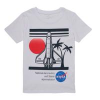 Textil Chlapecké Trička s krátkým rukávem Name it NASA Bílá