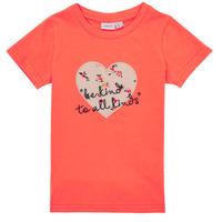 Textil Dívčí Trička s krátkým rukávem Name it NMFDELFIN TOP Korálová