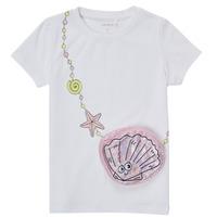 Textil Dívčí Trička s krátkým rukávem Name it NMFFEFA Bílá