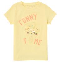 Textil Dívčí Trička s krátkým rukávem Name it NMFFEFA Žlutá
