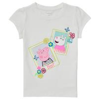 Textil Dívčí Trička s krátkým rukávem Name it PEPPAPIG Bílá