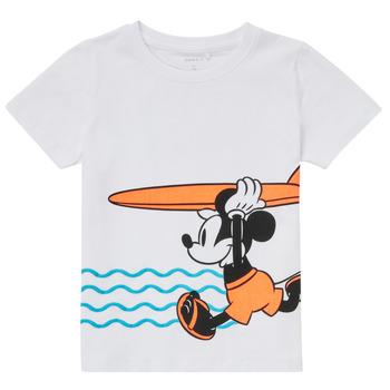 Textil Chlapecké Trička s krátkým rukávem Name it NMMMICKEY Bílá