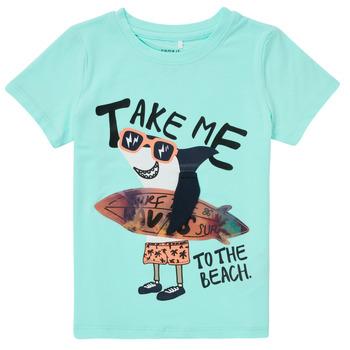 Textil Chlapecké Trička s krátkým rukávem Name it NMMFANO Modrá
