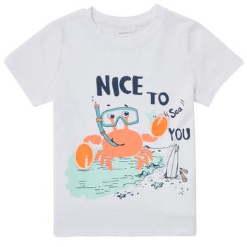 Textil Chlapecké Trička s krátkým rukávem Name it NMMFANO Bílá