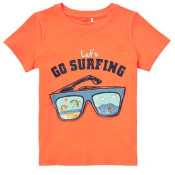 Textil Chlapecké Trička s krátkým rukávem Name it NMMFANO Oranžová