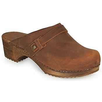 Boty Ženy Pantofle Sanita URSANA Hnědá