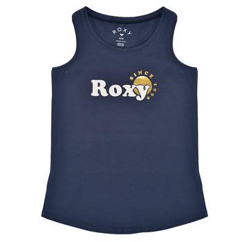 Textil Dívčí Tílka / Trička bez rukávů  Roxy THERE IS LIFE FOIL Tmavě modrá