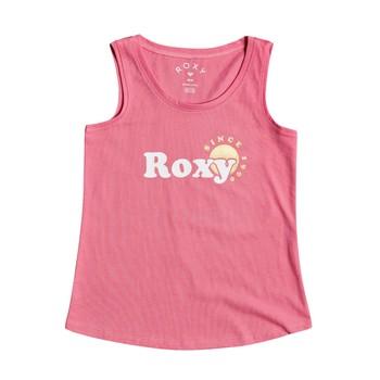 Textil Dívčí Tílka / Trička bez rukávů  Roxy THERE IS LIFE FOIL Růžová