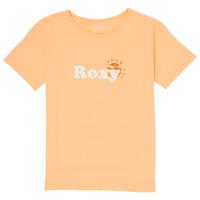 Textil Dívčí Trička s krátkým rukávem Roxy DAY AND NIGHT FOIL Růžová