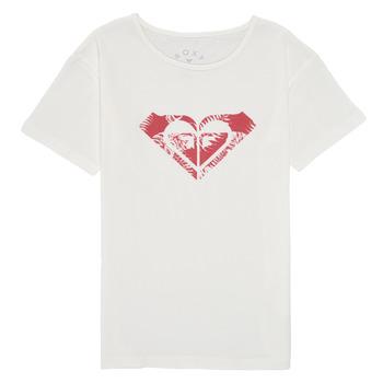 Textil Dívčí Trička s krátkým rukávem Roxy DAY AND NIGHT PRINT Bílá
