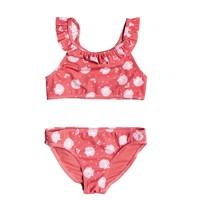 Textil Dívčí Bikini Roxy TEENY EVERGLOW CROP TOP SET Růžová
