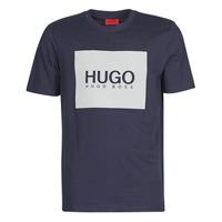 Textil Muži Trička s krátkým rukávem HUGO DOLIVE Tmavě modrá