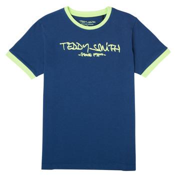 Textil Chlapecké Trička s krátkým rukávem Teddy Smith TICLASS 3 Tmavě modrá
