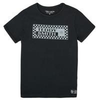 Textil Chlapecké Trička s krátkým rukávem Teddy Smith T-VANY Černá
