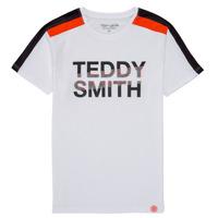 Textil Chlapecké Trička s krátkým rukávem Teddy Smith T-MACK Bílá
