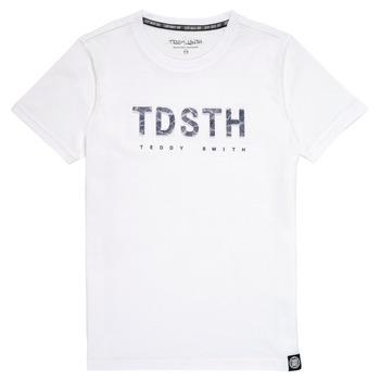 Textil Chlapecké Trička s krátkým rukávem Teddy Smith T-MAX Bílá