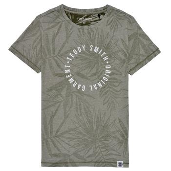 Textil Chlapecké Trička s krátkým rukávem Teddy Smith T-OTYS Khaki