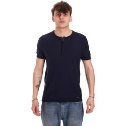 Textil Muži Trička s krátkým rukávem Gaudi 011BU53007 Modrý