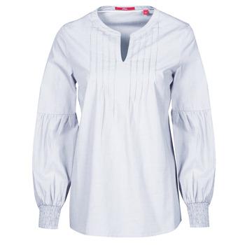 Textil Ženy Halenky / Blůzy S.Oliver 14-1Q1-11-4016-48W6 Slézová