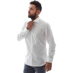 Textil Muži Košile s dlouhymi rukávy Gmf EQ2 1428 951106/01 Bílý