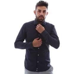Textil Muži Košile s dlouhymi rukávy Gmf EQ2 1079 952151/02 Modrý