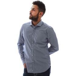 Textil Muži Košile s dlouhymi rukávy Gmf GMF3 3218 961153/01 Modrý