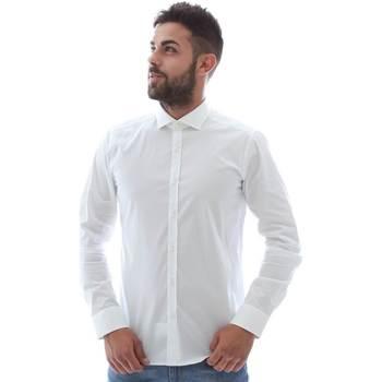 Textil Muži Košile s dlouhymi rukávy Gmf GMF5 4864 8 Bílý
