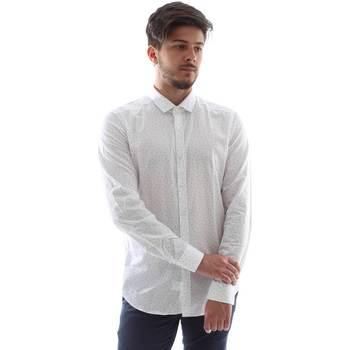 Textil Muži Košile s dlouhymi rukávy Gmf FS15 961138/1 Bílý