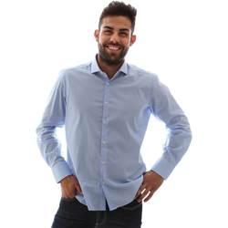Textil Muži Košile s dlouhymi rukávy Gmf 961146/1 Modrý