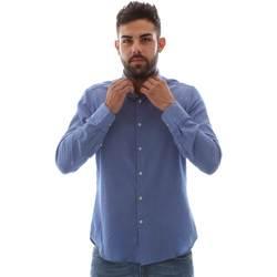 Textil Muži Košile s dlouhymi rukávy Gmf 961414/5 Modrý