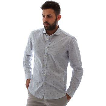 Textil Muži Košile s dlouhymi rukávy Gmf 961232/4 Bílý