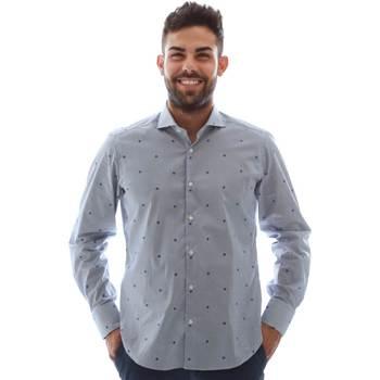 Textil Muži Košile s dlouhymi rukávy Gmf 961231/4 Modrý