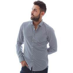 Textil Muži Košile s dlouhymi rukávy Gmf 961151/3 Modrý