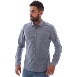 Textil Muži Košile s dlouhymi rukávy Gmf 961146/2 Modrý