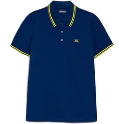 Textil Muži Polo s krátkými rukávy NeroGiardini E072370U Modrý